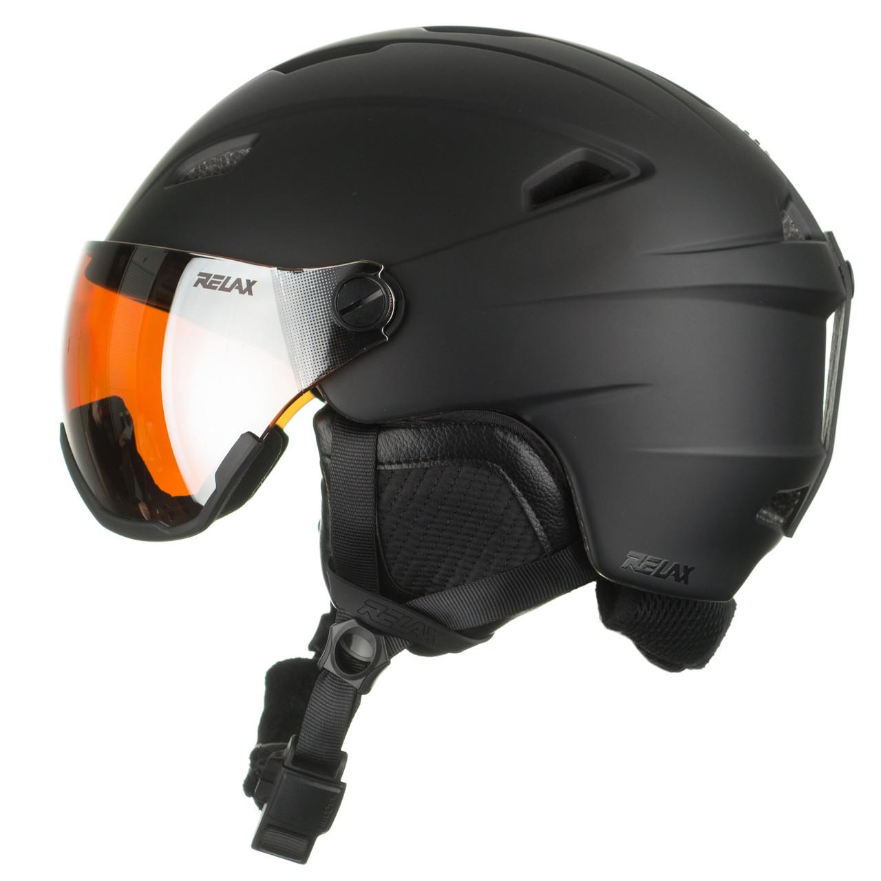 Шолом гірськолижний Relax Stealth RH24A Visor XL Black