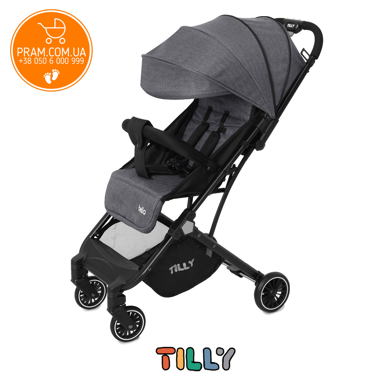 Tilly Bella T-163 прогулочная коляска Anchor Grey Серый