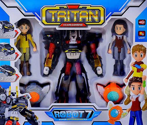 Игрушка робот-трансформер Тритан 7 с героями (Q1906), фото 2
