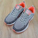 Кросівки жіночі в стилі Nike Flyknit Lunar 3 сірі з рожевим, фото 6