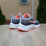 Кросівки жіночі в стилі Nike Flyknit Lunar 3 сірі з рожевим, фото 9