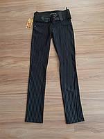 Строгие молодежные брюки в полоску Размер М
