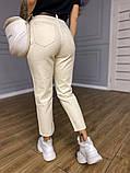 Женские джинсы МОМ белые, ткань коттон, не тянутся, фото 2