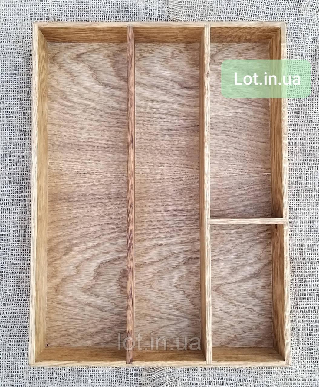 Деревянный лоток для столовых приборов Lot 404 300х400. (индивидуальные размеры)