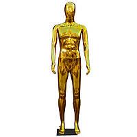 Манекен чоловічий кольору золота на підставці