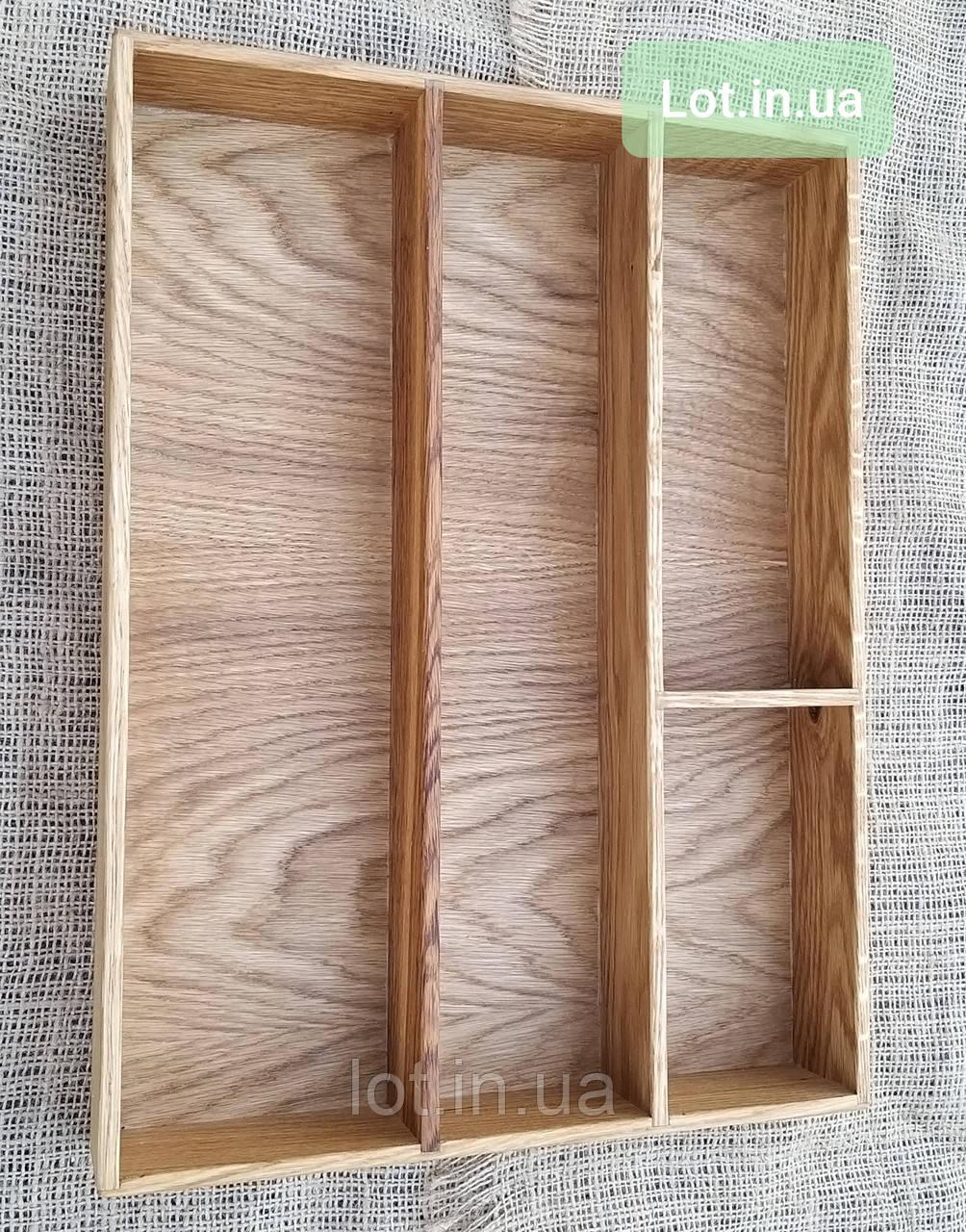 Деревянный лоток для столовых приборов Lot 404 400х500. (индивидуальные размеры)