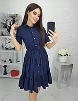 Платье женское летнее с 42 по 52 р. С208 синий, фото 1