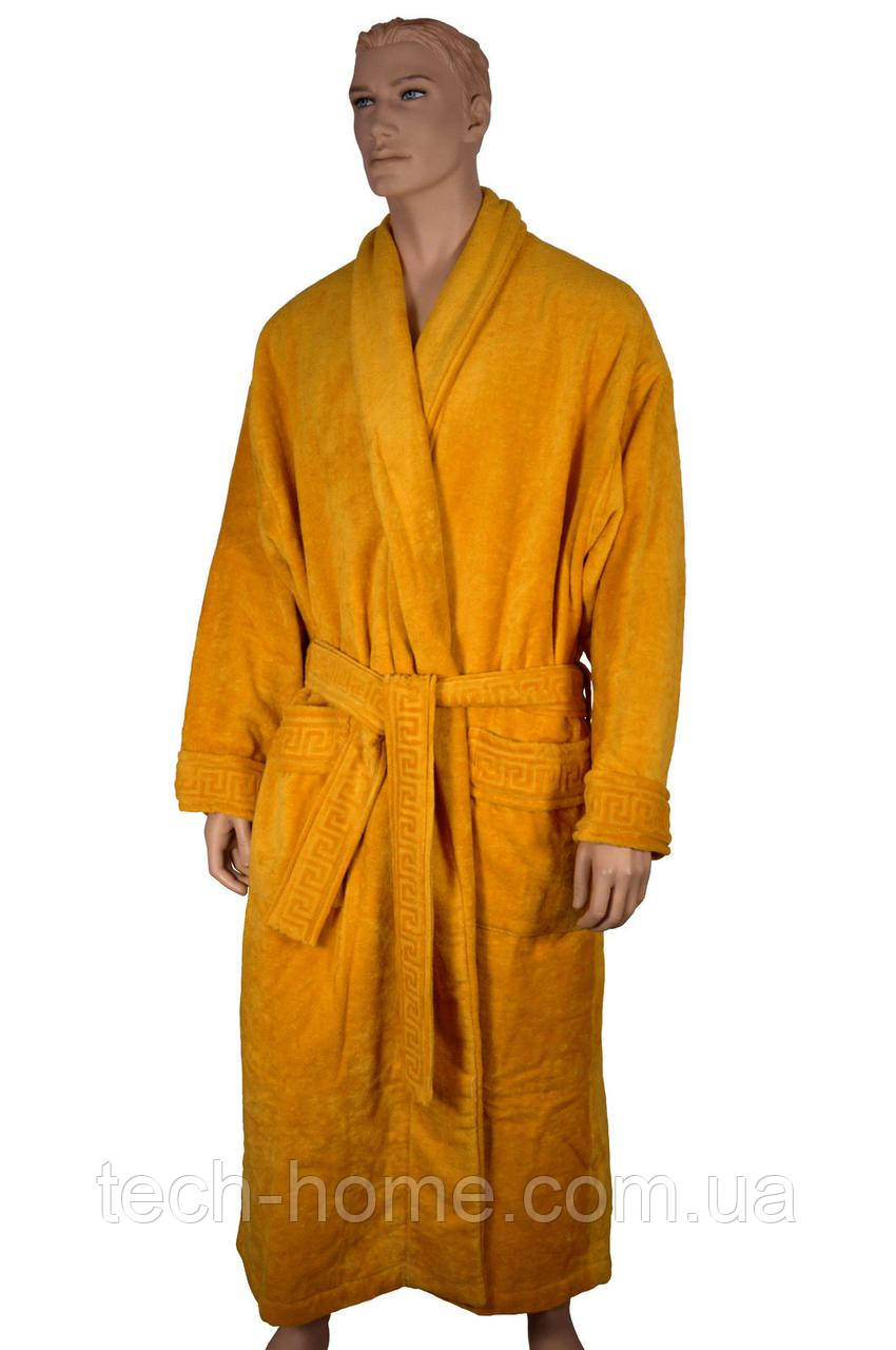 Халат махровый (желтый) Versace L/XL