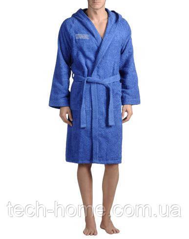 Халат мужской спортивный махровый синего цвета, Arena XL!!!!