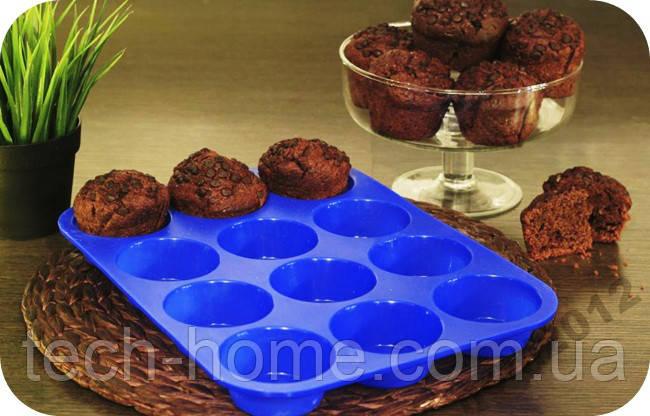 Силиконовая форма для выпекания кексов Home Essentials B990