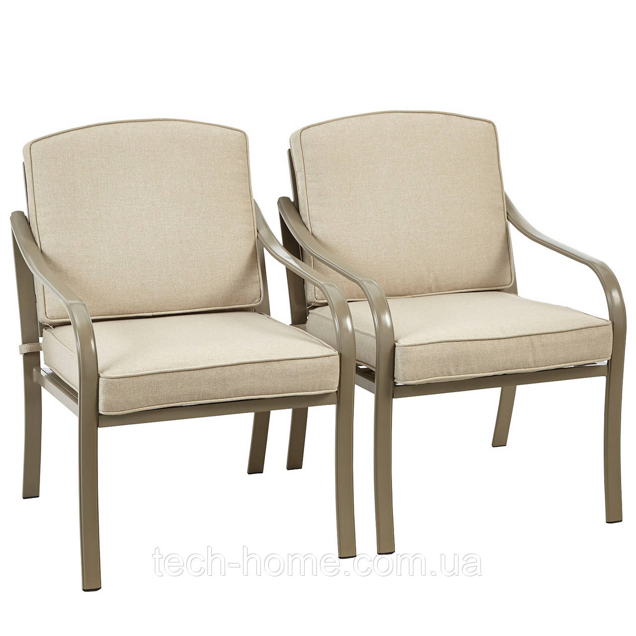 Набір садових стільців George Home 2 Haversham Classic Dining Chairs Linen
