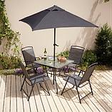 Набор садовой мебели George Home Miami 6 Piece Patio Set - Black & Charcoal, фото 2