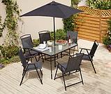 Набор садовой мебели George Home Miami 8 Piece Patio Set - Black & Charcoal, фото 2