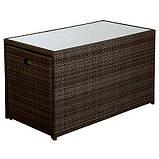 Садовая мебель George Home Borneo Cube 5 Piece Bistro Set - Dark Brown & Linen, фото 3
