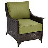 Набор садовой мебели George Home Sumatra 3 Piece Conversation Sofa Set in Olive Green, фото 3