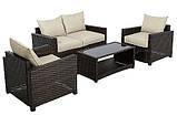 Набор садовой мебели George Home Jakarta Deluxe Conversation Sofa Set in Dark Linen - 4 Piece., фото 2