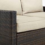 Набор садовой мебели George Home Jakarta Deluxe Conversation Sofa Set in Dark Linen - 4 Piece., фото 3
