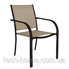 Набор из двух стульев Miami Stacking Brown and Linen Patio Chairs -2ШТ