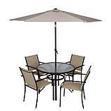 Набор из двух стульев Miami Stacking Brown and Linen Patio Chairs -2ШТ, фото 4