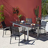Стулья садовые Miami Stacking Patio Chairs in Charcoat - Pack of 2 Rollover image to zo., фото 3
