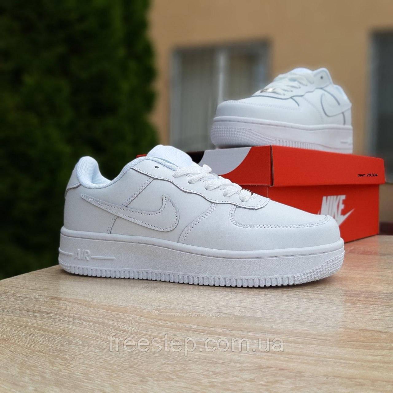 Кросівки жіночі в стилі Nike Air Force білі