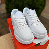 Кросівки жіночі в стилі Nike Air Force білі, фото 2
