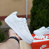 Кросівки жіночі в стилі Nike Air Force білі, фото 4