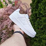 Кросівки жіночі в стилі Nike Air Force білі, фото 9
