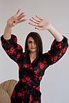 Женская блузка, органза, р-р 42-44; 46-48; 50-52; 54-56; 58-60 (чёрный+красный), фото 6