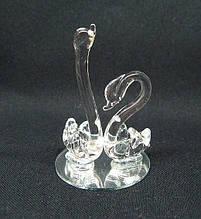 Подарочная стеклянная фигурка Пара лебедей