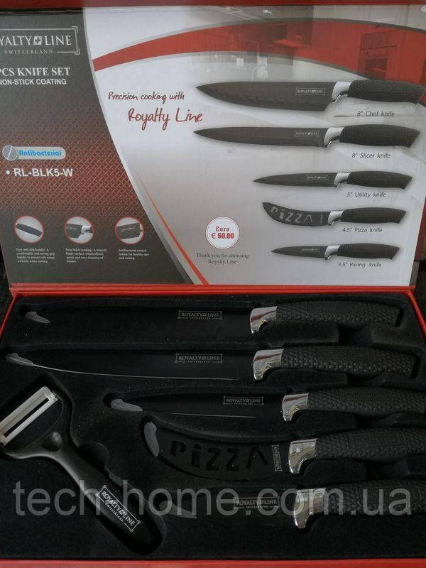 Набор ножей Royalty Line RL-BLK5-W