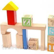 Деревянный конструктор ASDA Play & Learn 70 Piece Wooden Blocks