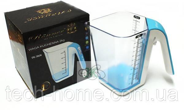 Весы кухонные электронные Ronner TW3020G 2kg