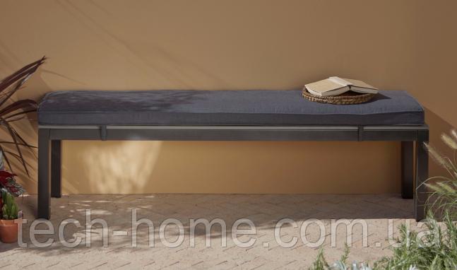Скамейка Grace Classic Bench - Charcoal & Grey.