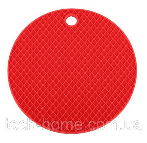 Подставка под горячее (силикон) красная Home Essentials B1160
