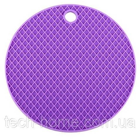 Підставка під гаряче (силікон) фіолетова Home Essentials B1160