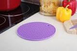 Підставка під гаряче (силікон) фіолетова Home Essentials B1160, фото 2