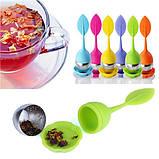 Заварник для чаю (силікон) листок помаранчевий Home Essentials B1159, фото 3