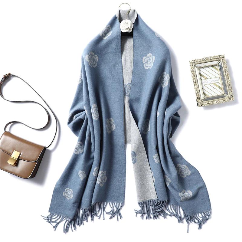 Большой женский шарф 200*65 Осень Зима