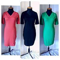 Платье женское однотонное летнее Сукня жіноча в різних кольорах літня приталена