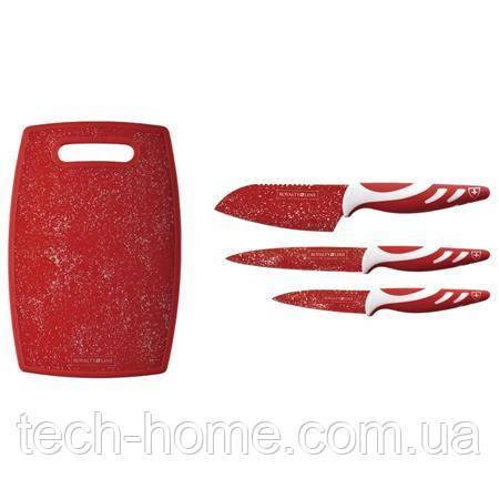 Набор ножей с доской Royalty Line RL-3MR 4pcs