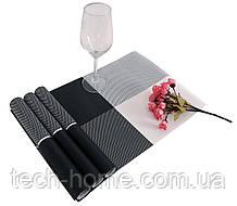 Сервірувальні килимки для столу Home Essentials (чорно-білий) - 4 шт