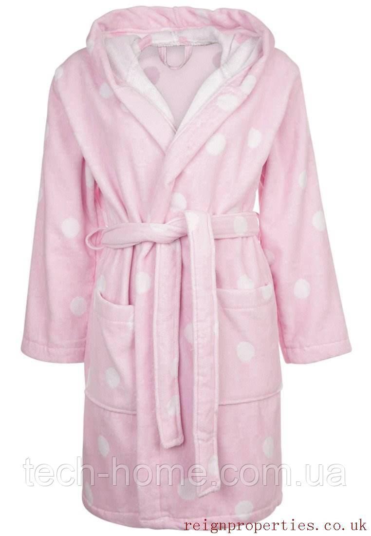 Халат махровый (розовый в горошек) Calando M