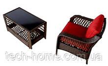 Набор садовой мебели Sumatra 2 Piece Conversation Sofa Set in Olive Green.