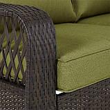 Набор садовой мебели Sumatra 2 Piece Conversation Sofa Set in Olive Green., фото 3