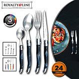 Набір столових приладів Royalty Line RL-CUT24 Black 24 pcs, фото 2