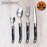 Набір столових приладів Royalty Line RL-CUT24 Black 24 pcs, фото 3