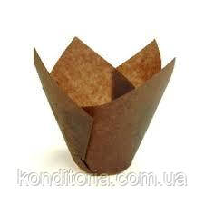 Коричневі паперові форми для мафінів, кексів 30шт.