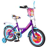 """Двухколесный детский велосипед 14"""" от 3 лет с TILLY Fluffy"""
