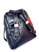 Кожаная женская сумка-рюкзак Farfalla Rosso Черный (01076), фото 3